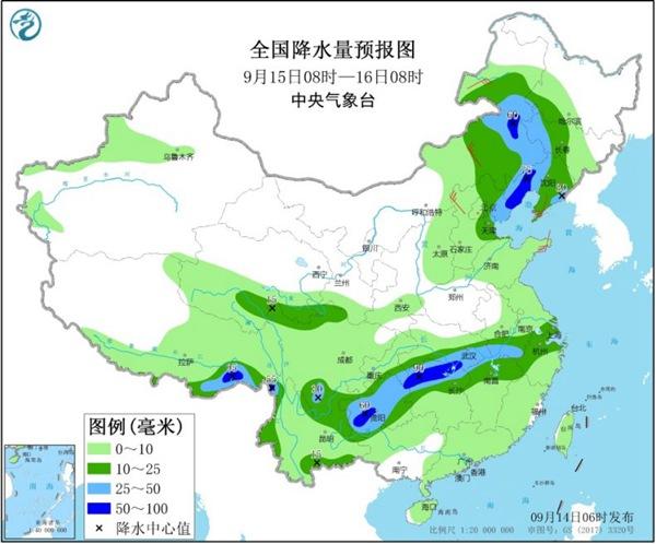 大范围降水席卷中东部 华北等地秋意浓