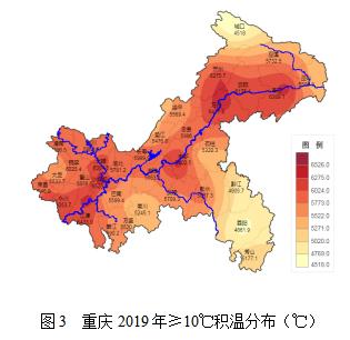 重庆市2019年度农业气象条件分析