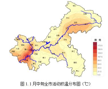 重庆市2020年1月下旬农业气象旬报