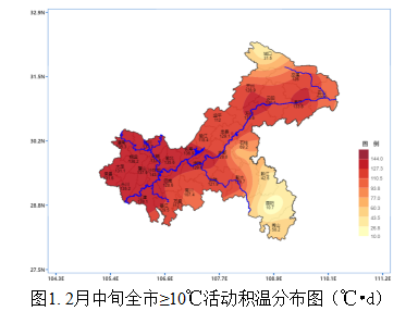 重庆市2021年2月中旬农业气象旬报