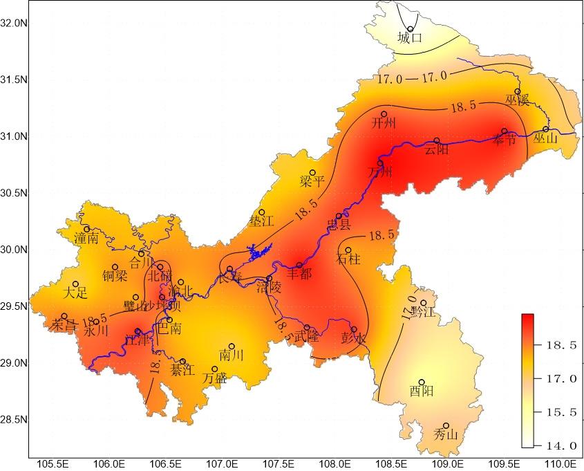 2019年10月重庆市气候影响评价