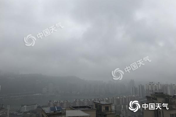 重庆未来三天多雨阴冷 公众注意添衣防感冒