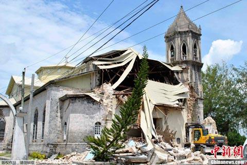 菲律宾7.2级地震已致155人遇难