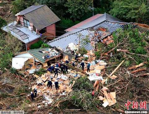 日本遭强台风横扫致17人死 抗灾强国伤痕累累