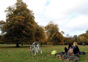 伦敦连日阴雨后秋意渐浓