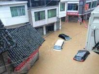 四川泸州被水淹 309省道发生塌方