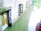 暴雨袭武汉 近十栋民房被淹一米多深