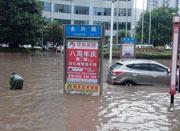 四川强降雨致城市内涝 蔬菜价格差别大
