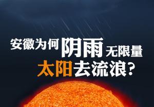 安徽为何阴雨无限量 太阳去流浪?