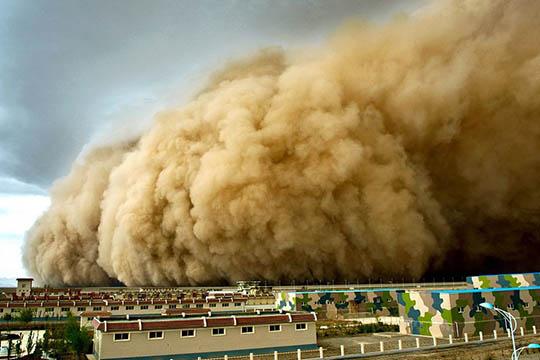 图解沙尘天气