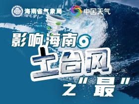 """影響海南土臺風之""""最"""""""