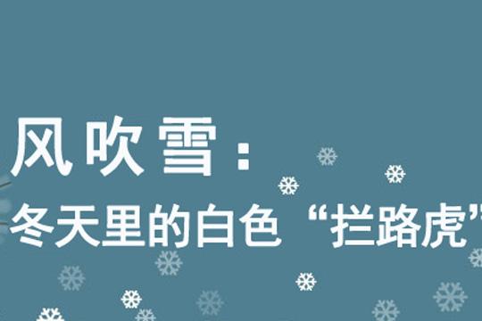 """風吹雪:冬天里的白色""""攔路虎"""""""