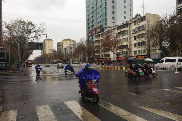 江苏安徽等雨雪今日最盛 华北黄淮霾再起