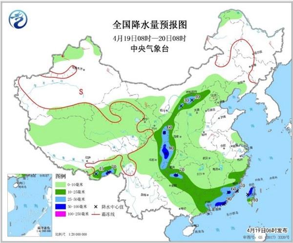 南北方降水连成片 广东江西警惕强对流
