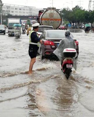 """广东强降雨持续""""霸屏"""" 珠三角等地暴雨到大暴雨"""