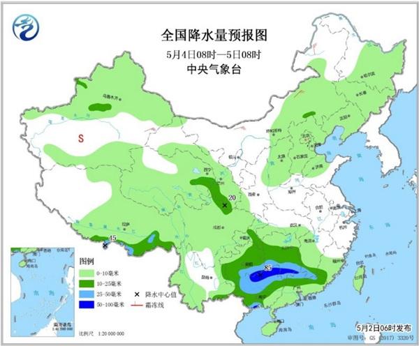 京津冀冲击30℃ 4日南北方多降雨
