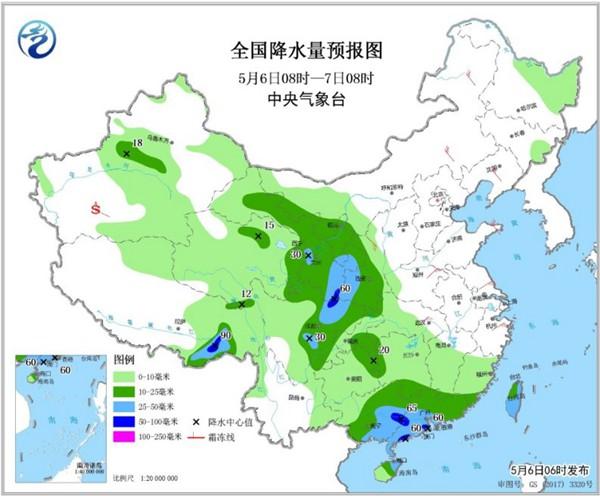 广西广东等地有暴雨 东北华北升温明显