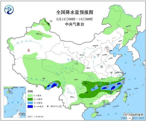 华北黄淮本周再上30℃ 南方多降雨