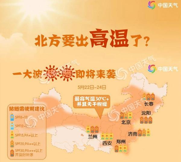 夏天来了!北方7大城市将现今年首个高温