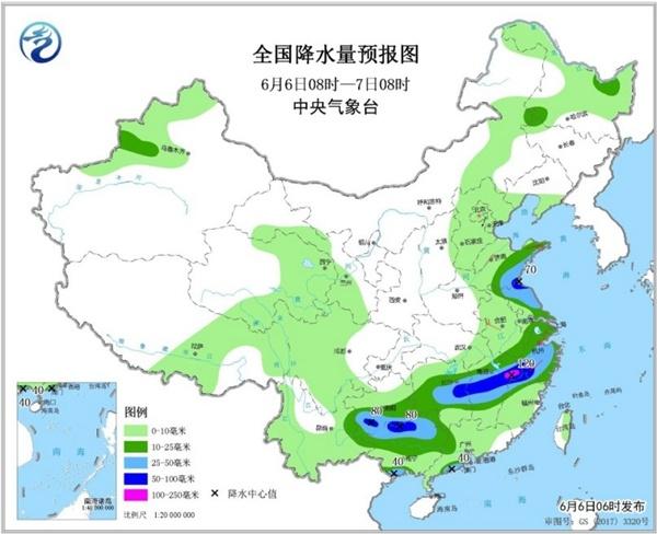 强降雨区东移 河南江苏等地将有大暴雨