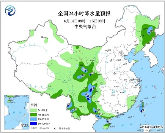 四川贵州局地有暴雨 山东等地高温持续
