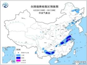 暴雨蓝色预警:上海江苏等南方8省市区局地有大暴雨
