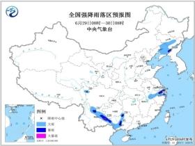 暴雨蓝色预警 江苏等8省市局地大暴雨