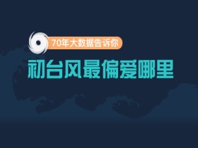 70年大數據告訴你 初臺風最偏愛哪里?