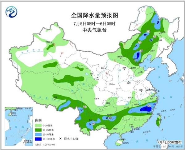 【云南江西等6省区有暴雨】北方多地超40℃