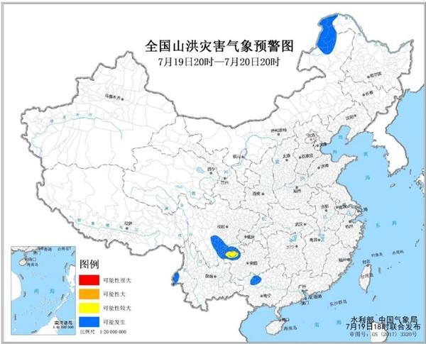山洪灾害气象预警!四川云南贵州等地需警惕山洪灾害