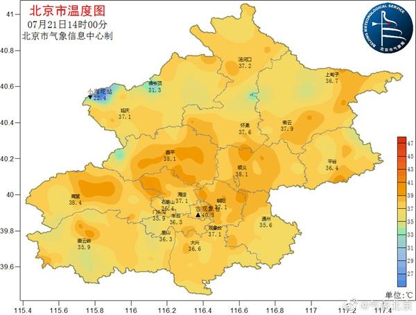 北京局地超40℃ 明夜将有明显降雨