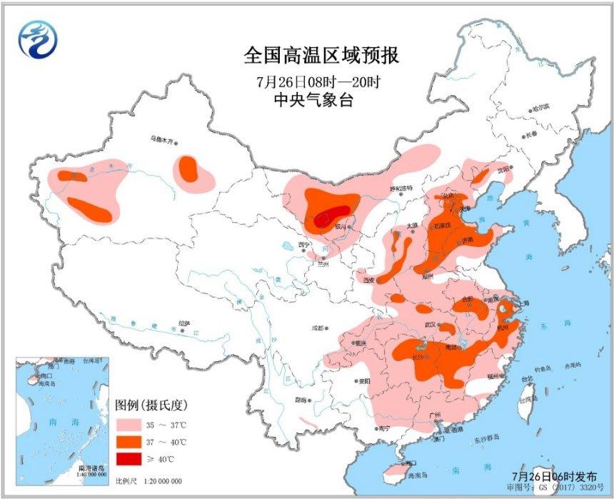 江南華南氣溫將創新高 黃淮需防強對流