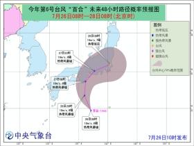 """今年第6号台风""""百合""""生成 对我国海区无影响"""