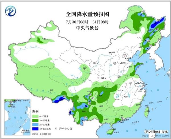 东北西南局地大暴雨 南方高温持续夜温近30℃