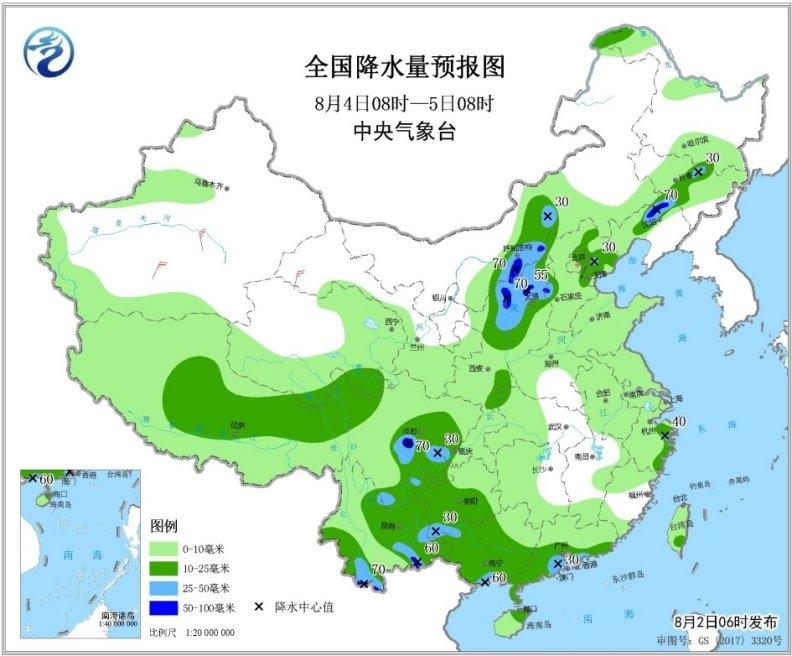 台风今日肆虐广西 中东部高温略减依旧热