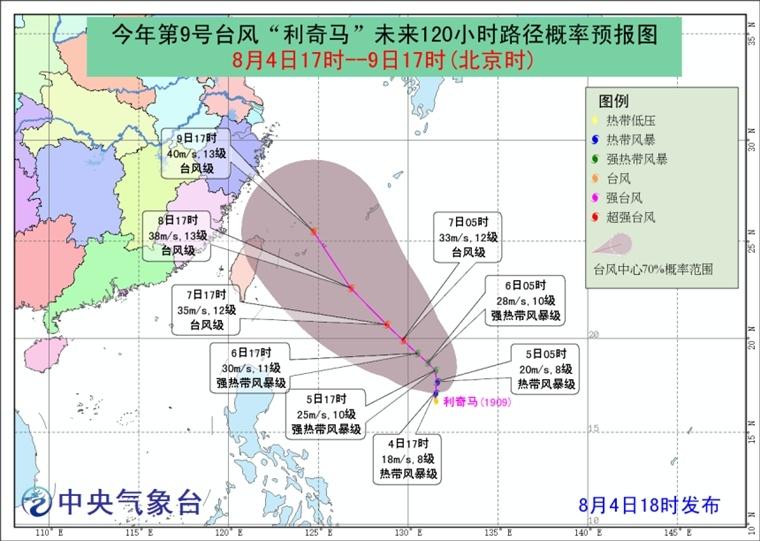 """今年第9号台风""""利奇马""""生成!"""