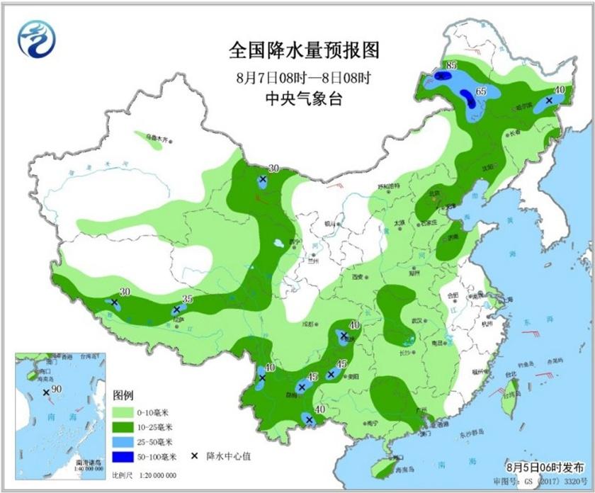 14省份大到暴雨来袭! 双台风或相互影响