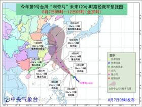 """注意!""""利奇马""""加强为台风级 或将登陆浙江沿海"""