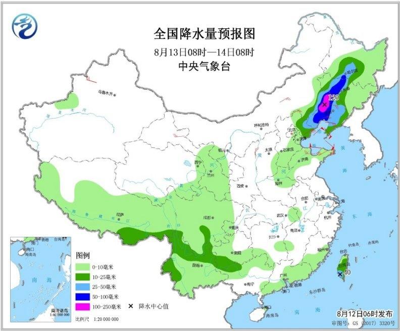 台风冷空气共同影响东北华北有强降雨 南方大部现高温