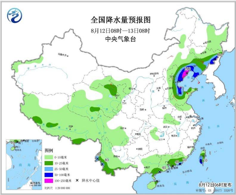 台风冷空气共同影响东北等地有强降雨 南方大部现高温
