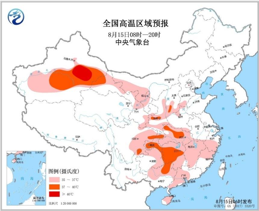 东北强降雨区北移 南方4省市高温顽固