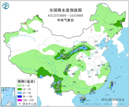"""西北华北雨水频繁 台风""""白鹿""""直指东南沿海"""