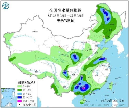 台风冷空气制造强降雨 江南华南暑热渐消