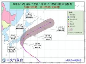 """台风""""法茜""""将在日本本州沿海登陆 对我国海区无影响"""