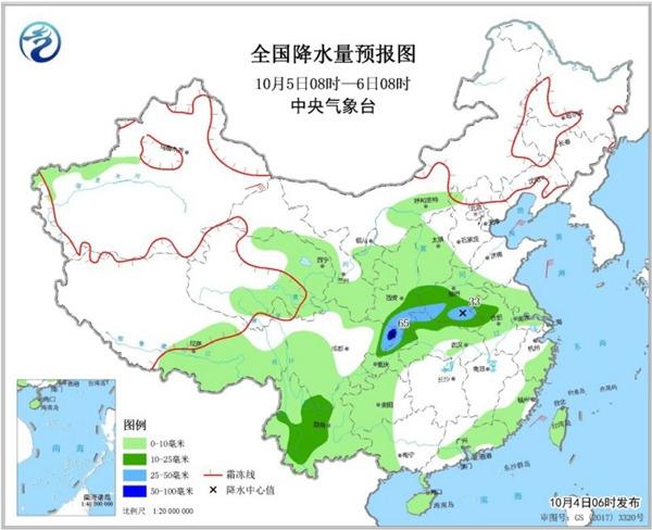 长江以北多地降温超10℃ 西南地区多阴雨