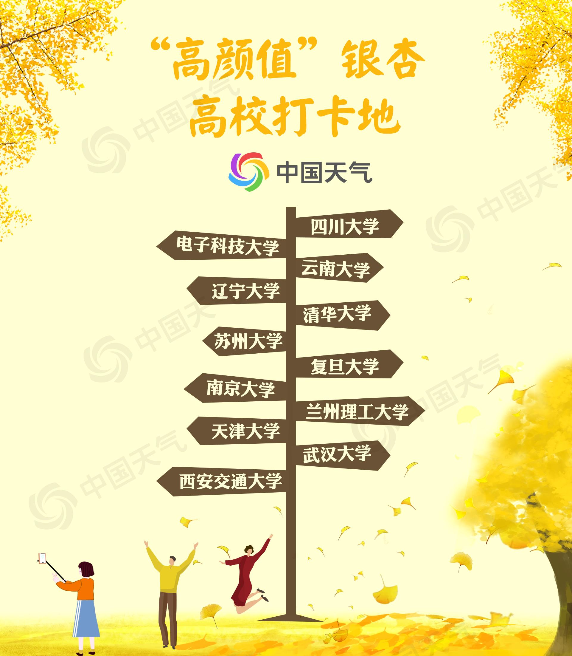 2019年全国银杏观赏景点地图来了!辽宁丹东31日进入最佳观赏期