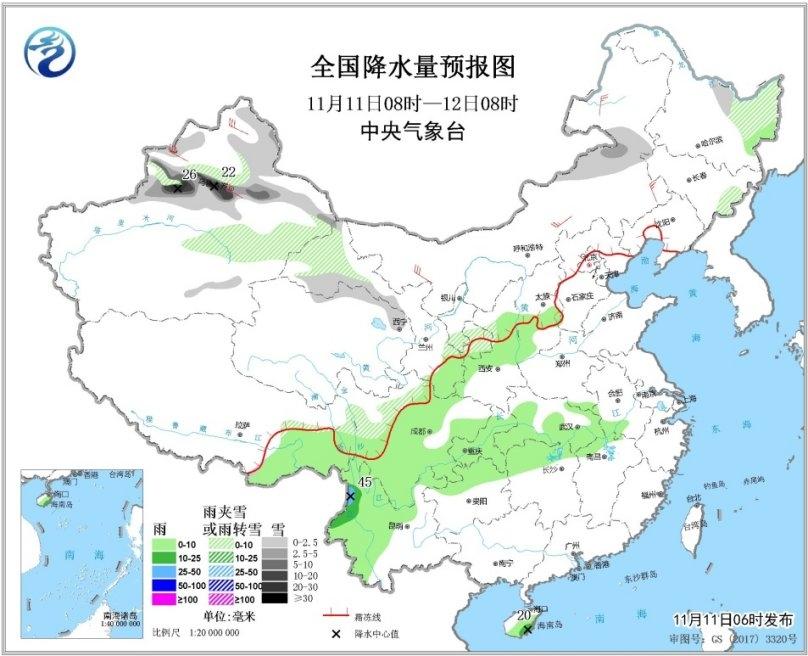 冷空气发威西北东北雪纷纷 冬季或南压至黄河下游