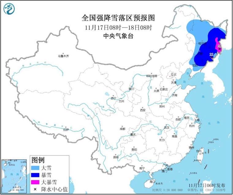 暴雪黄色预警!吉林黑龙江等地局地有大暴雪