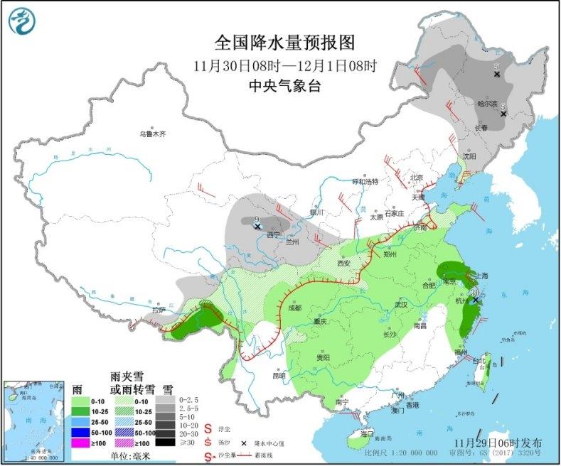 今冬以来最大范围降雪将至 【6省区】有中到大雪
