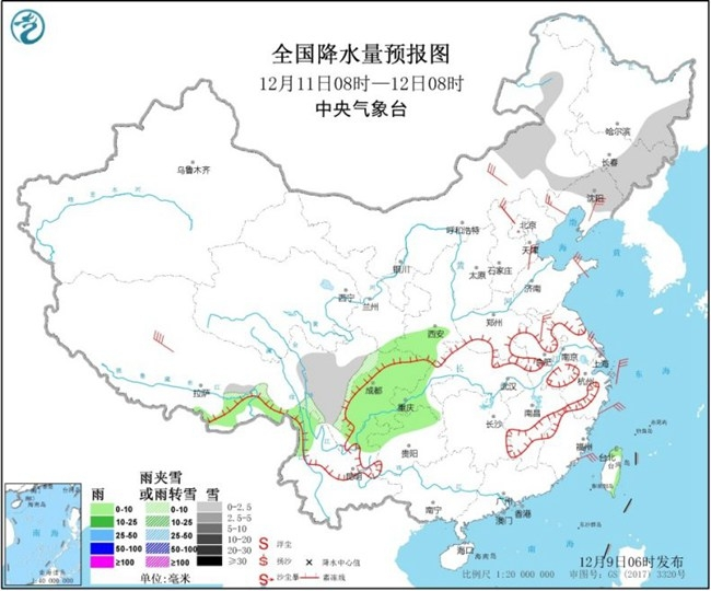 华北黄淮雾和霾再发展 明日冷空气抵达东北雨雪降温齐袭